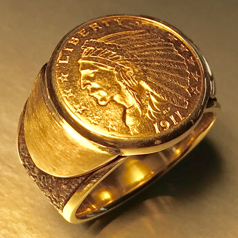 $2 1/2 gold-indian-ring